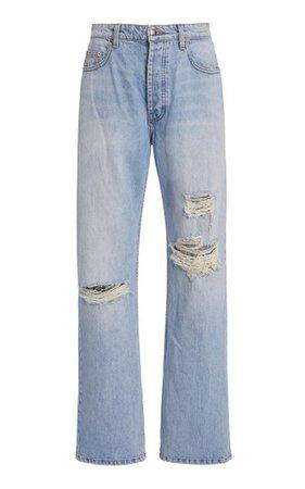 Sammy Distressed Rigid High-Rise Straight-Leg Jeans By Sablyn | Moda Operandi