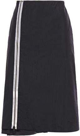 Zip-detailed Shell Skirt