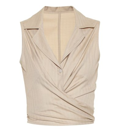 The Elide wool and silk top