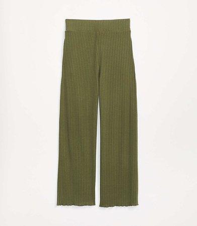 Ribbed Wide Leg Pants   Lou & Grey