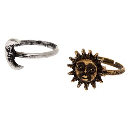 Best Friends Sun & Moon Rings | Claire's US