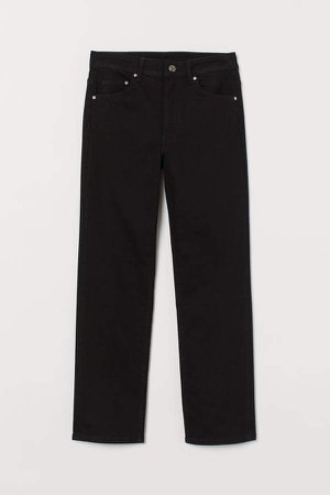 Straight High Ankle Jeans - Black