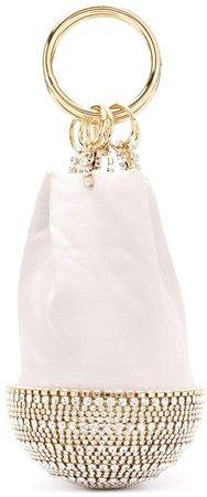 Crystal-Embellished Silk Tote Bag