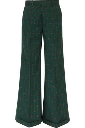 Gucci | Wool-jacquard wide-leg pants | NET-A-PORTER.COM