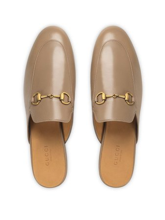 Gucci Women's Princetown Leather Slippers - Farfetch