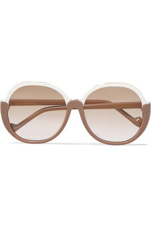 Zimmermann | Joliette round-frame two-tone acetate sunglasses | NET-A-PORTER.COM