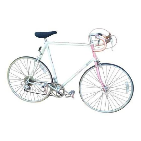 pink and blue bicycle