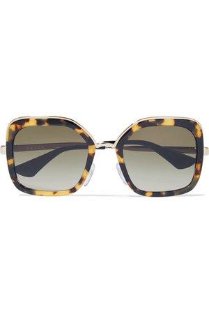 Prada   Square-frame tortoiseshell acetate and gold-tone sunglasses   NET-A-PORTER.COM