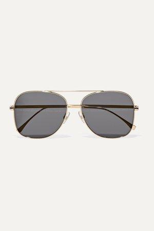 Gold Aviator-style gold-tone sunglasses | Fendi | NET-A-PORTER