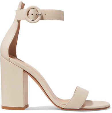 Versilia 100 Leather Sandals - Off-white