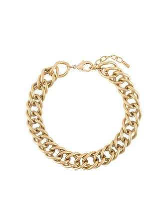Shop gold Saint Laurent Sagan short chain necklace with Express Delivery - Farfetch