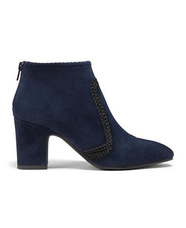 Jack Rogers Gemma Suede Heeled Booties & Reviews - Boots - Shoes - Macy's navy