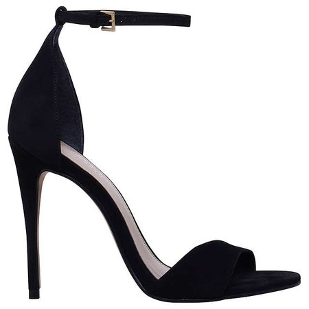 Carvela Glimmer High Heel Sandals, Black Nubuck