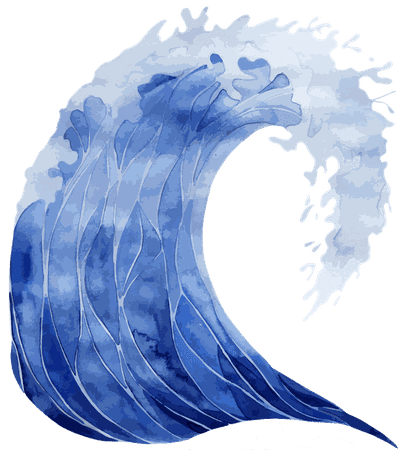 Collection of free Transparent waves water color. Download on UI Ex