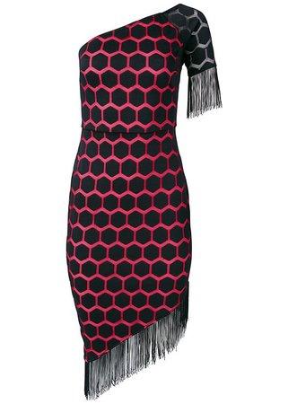 Plus Size One Shoulder Fringe Dress | VENUS