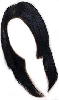 front cut hair black