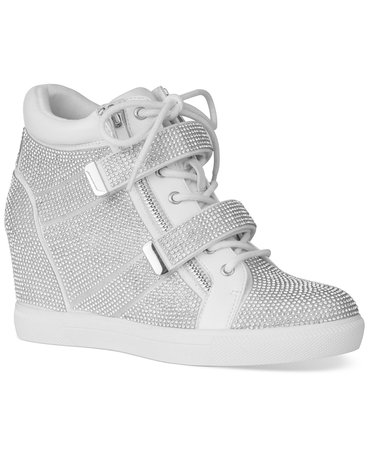 Silver INC International Concepts INC Women's Debby Wedge Sneakers, Created for Macy's & Reviews - Athletic Shoes & Sneakers - Shoes - Macy's