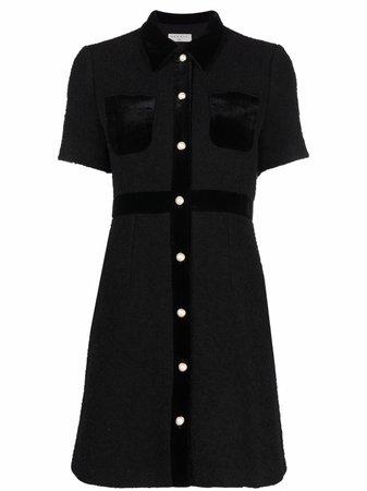 SANDRO Paulette Short Sleeved Shirt Dress