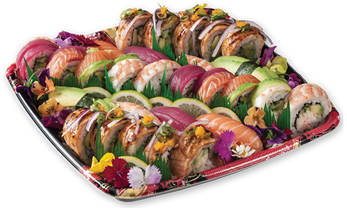 sushi platter food