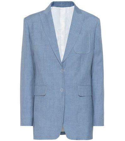Hesston linen, wool and silk blazer