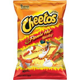 Cheetos Crunchy Flamin Hot Cheese Flavored Snack, Case of 64, 2oz Bags