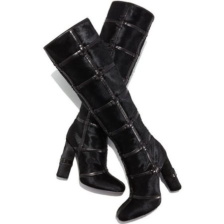 TOM FORD Calf-Hair Patch High-Heel Knee Boot