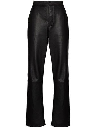 RtA high-waist lambskin trousers
