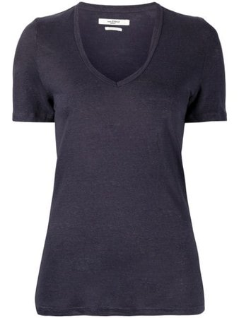 Isabel Marant Étoile v-neck linen T-shirt - FARFETCH
