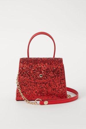 Glittery Shoulder Bag - Red