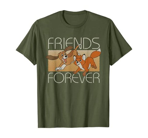 Amazon.com: Disney The Fox and the Hound Friends Forever T-Shirt: Clothing