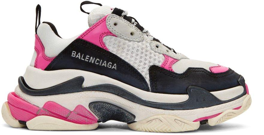 Balenciaga  Pink & White Triple S Sneakers €745 EUR