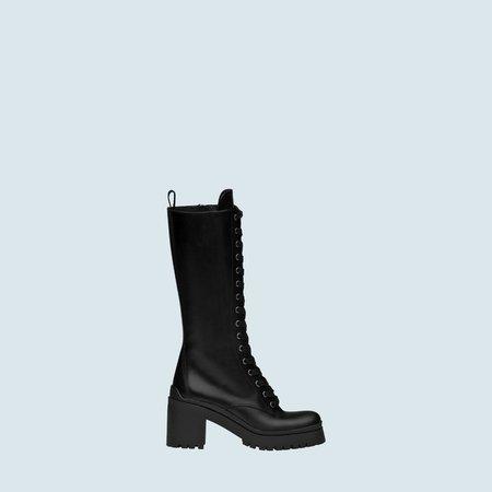 Laced leather boots   Miu Miu _080