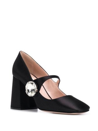 Miu Miu Mary Jane satin pumps