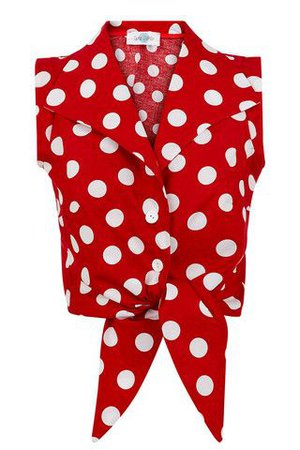 white shirt with red polka dot - Google Search