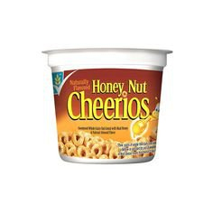 General Mills Honey Nut Cheerios Cereal in a Cup 2 oz. Cup 12 ct. ❤ liked on Polyvore featuring home, kitchen & dining, dinnerware, grain mill, cereal cups, bee dinnerware, nut cup and nut mill