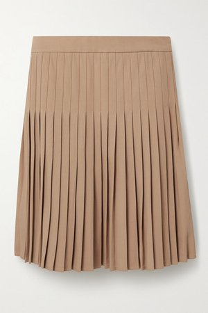 Pleated Crepe Mini Skirt - Sand