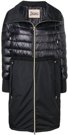 quilted panel coat