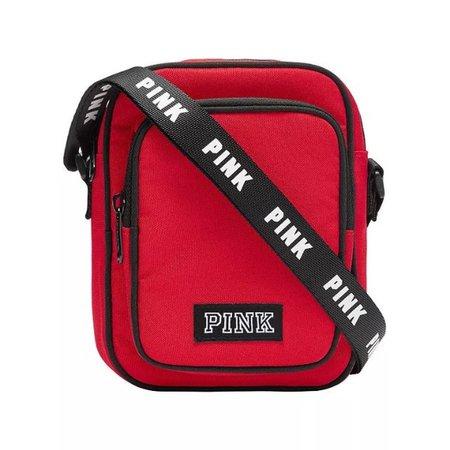 victoria secret pink crossbody bag red