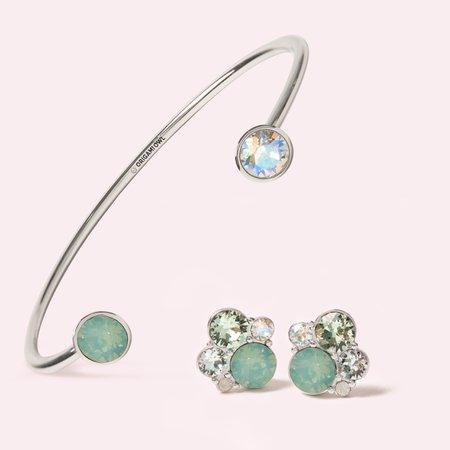 mint earrings /bracelet