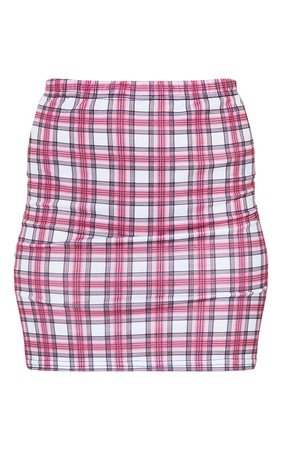 Pink Check Mini Skirt | PrettyLittleThing USA