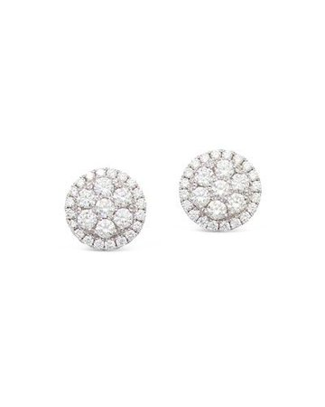 PAJ8J Frederic Sage 18k Firenze II Round Diamond Cluster Stud Earrings