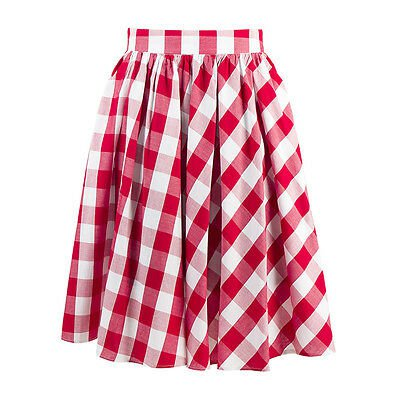 Red and White plaid skirt 1