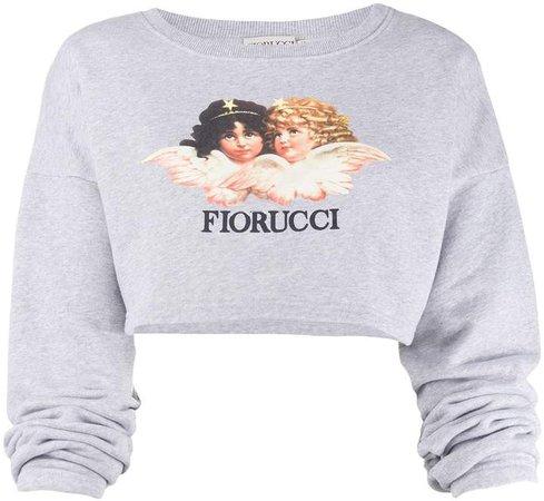 Vintage Angels cropped sweatshirt