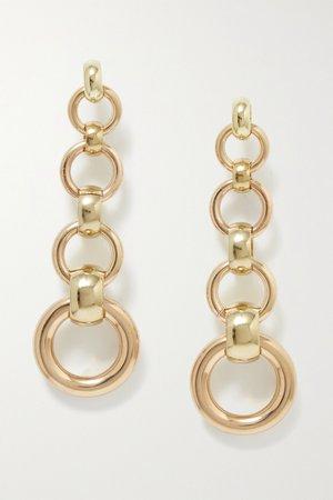 Gold Scala gold-tone earrings | Laura Lombardi | NET-A-PORTER