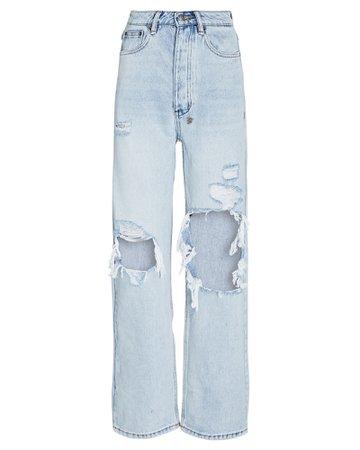 Ksubi Brooklyn Distressed Straight-Leg Jeans | INTERMIX®
