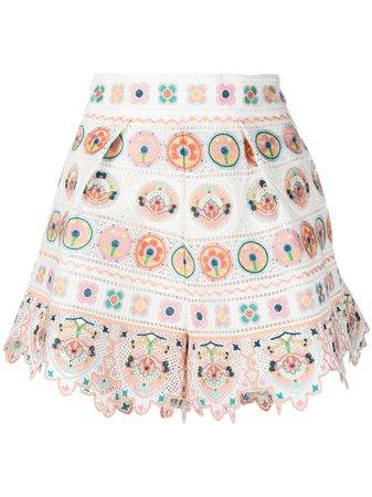 Zimmermann printed mini shorts