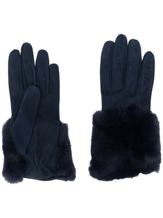 Gala Gloves Faux Fur Trim Gloves