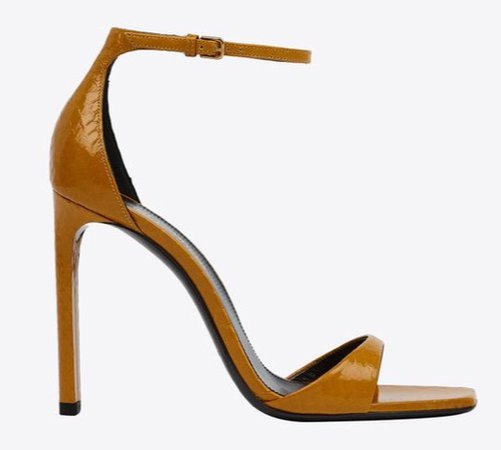 brown ysl shoes