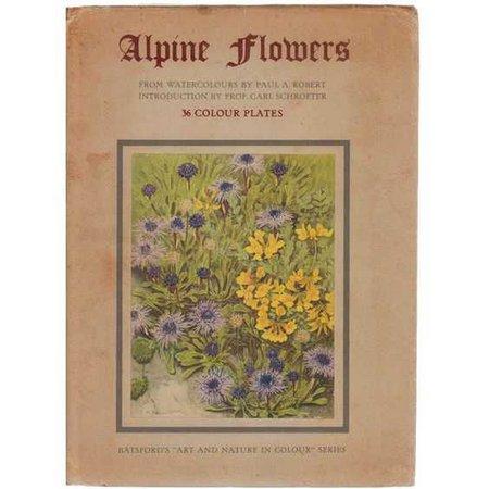 vintage flower book