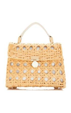 Sybil Rattan Top Handle Bag By Cult Gaia | Moda Operandi